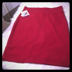 Plus size NWT red skirt XXL